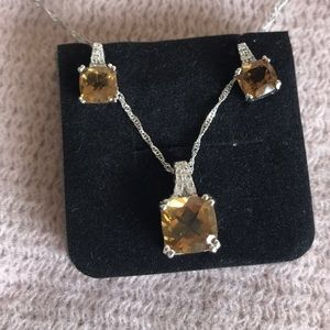 NWOT Necklace & Earrings Set